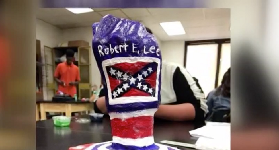 Virginia high school student refuses to change his Confederate-themed art project after teacher calls it racist