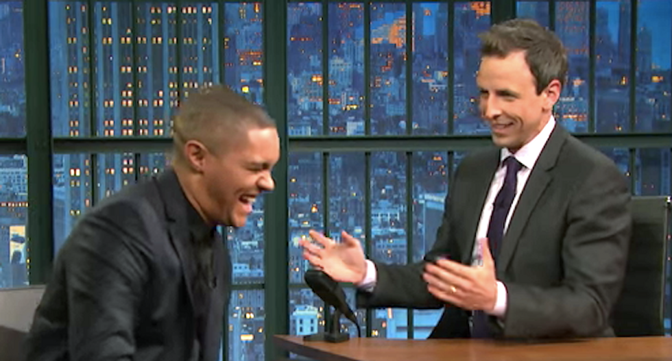 Trevor Noah and Seth Meyers hilariously imagine how Ben Carson's deeply weird campaign will end