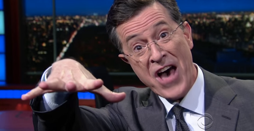 Stephen Colbert: Obama dropped the mic in his speech -- but Trump still somehow won the night