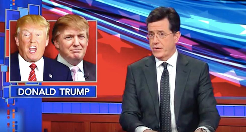 Stephen Colbert's 'Trump vs. Trump' debate reveals just how meaningless but loud Trump actually is