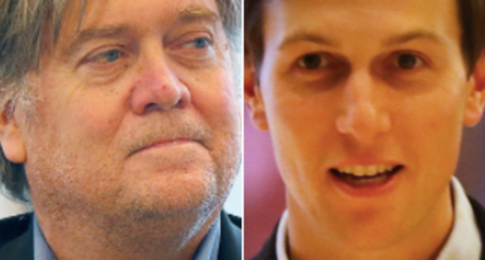'Those two committed treason': Conspiracy bloggers say CNN has damning transcripts of Kushner and Bannon