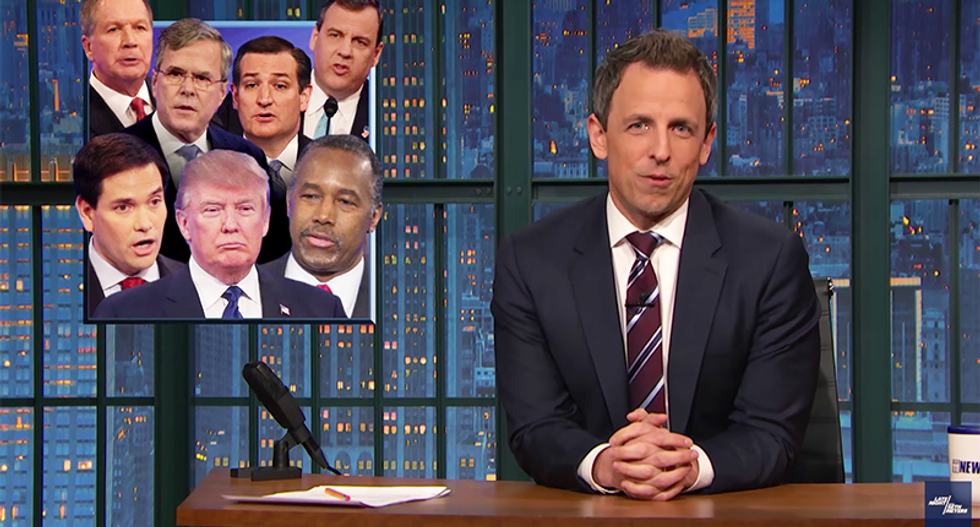 Seth Meyers flattens the 'dumbest' Republicans in Congress for humiliating themselves by sucking up to Trump