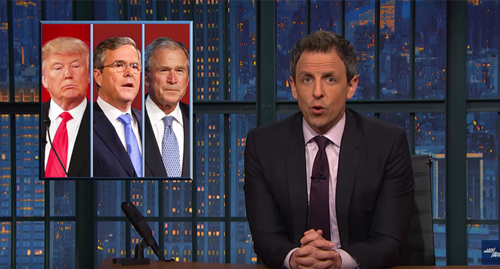 Seth Meyers warns Trump: If you f*ck with the Bushes then Cheney might shoot you