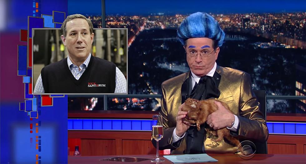 Stephen Colbert slams fellow Catholic Rick Santorum: 'Withdrawal is the only true method'