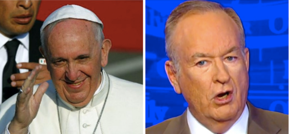 Embattled Bill O'Reilly meets Pope Francis at the Vatican as reckoning hour at Fox approaches fast