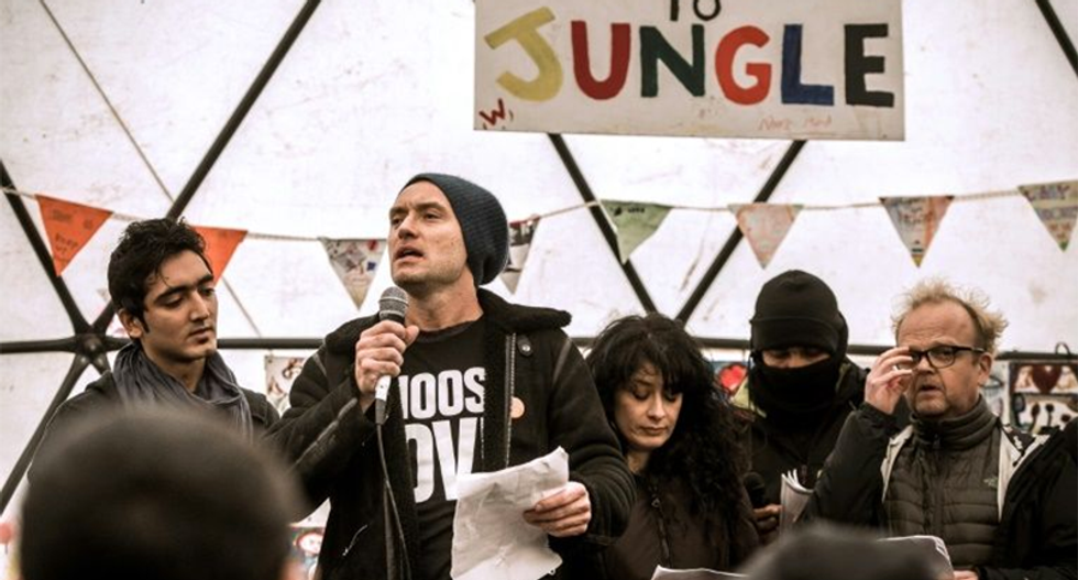 Jude Law leads celebs highlighting refugee plight in Calais 'Jungle'