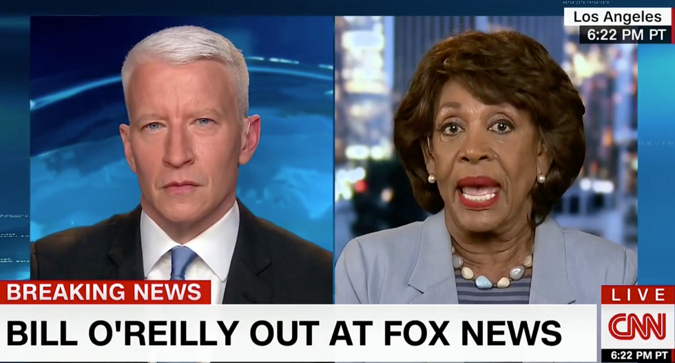 'The day will come when rich men can't buy their way out of this': Watch Maxine Waters eviscerate O'Reilly