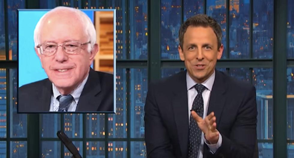 Seth Meyers gleefully mocks Fox News 'freakout' over 'Bernie Sanders socialist nightmare'