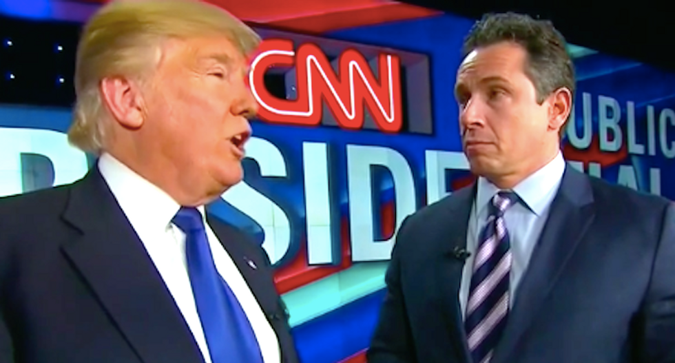 CNN host barely keeps a straight face after Trump brags IRS audits him for being a 'strong Christian'