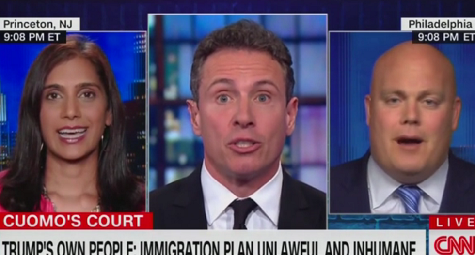 CNN's Cuomo rips former White House lawyer for defending Trump's lawlessness: 'You're a little out of your depth'