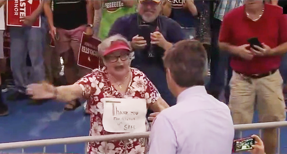 'Get the f*ck out of here': Trump supporter attacks Jim Acosta and revs up the crowd against CNN in South Carolina