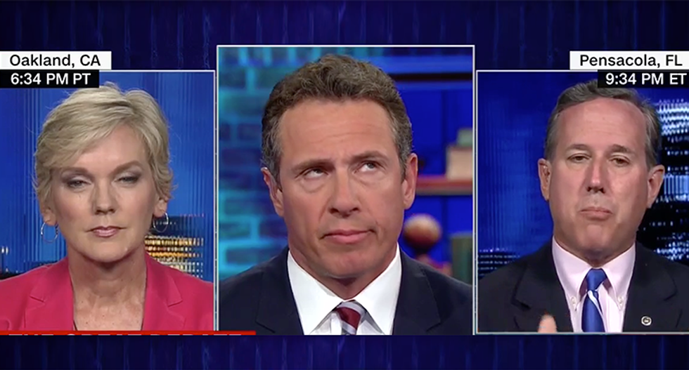WATCH: CNN's Chris Cuomo call BS on Rick Santorum demanding 'civility' while refusing to require it of Trump