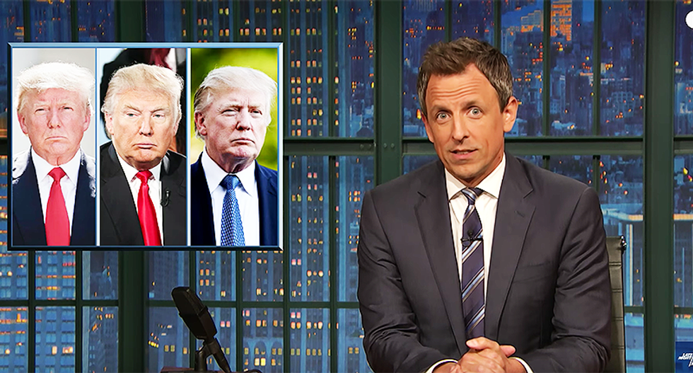 Seth Meyer mocks 'wacky' Trump for walking around like he has a 'Lego up his butt and can't get it out'
