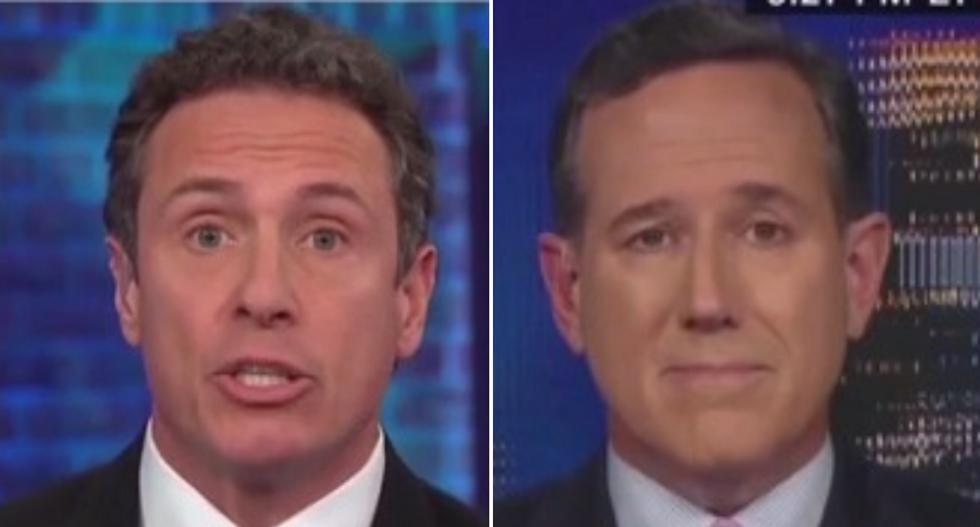 CNN's Chris Cuomo blasts Rick Santorum for bringing fake news 'BS' onto his show