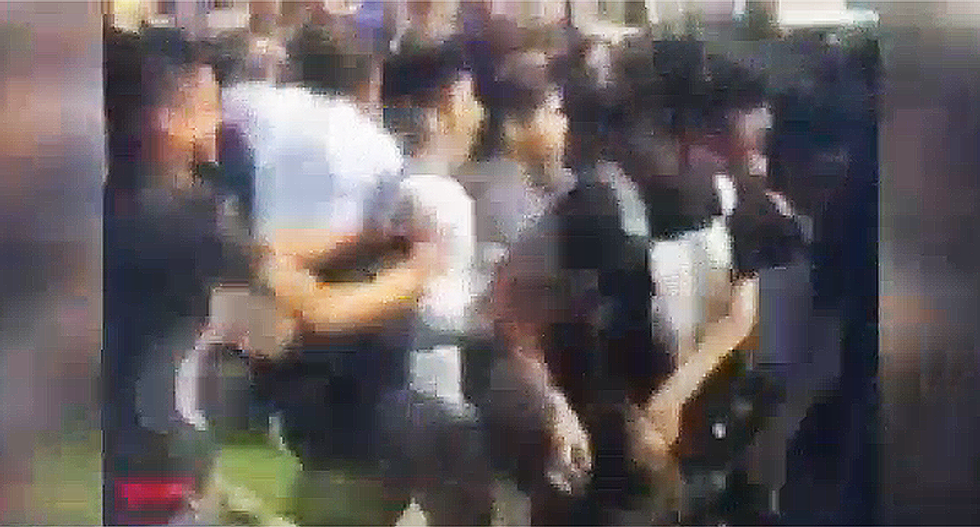 WATCH: All hell breaks loose outside Los Angeles school as men protest gender-neutral bathroom