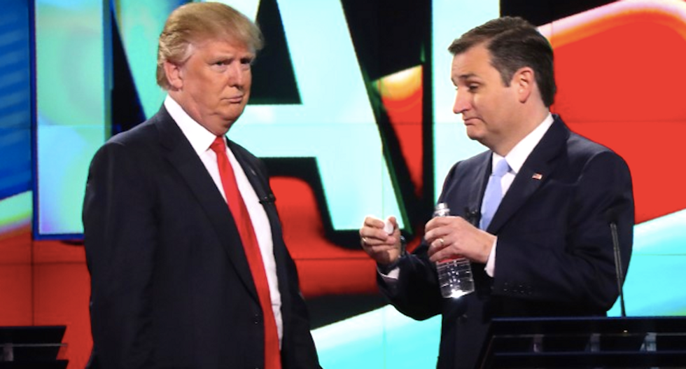 Trump, Cruz, Kasich seek to win over Republican leaders at party meeting