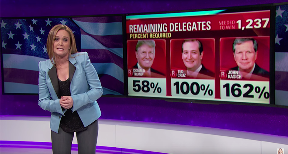 Samantha Bee crushes Kasich and Cruz for trying to invent a form of math that might help them win