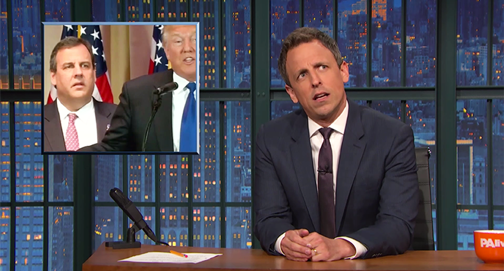 Seth Meyers imagines Trump's VP options: The opposite of Trump is a Mexican guy with giant hands