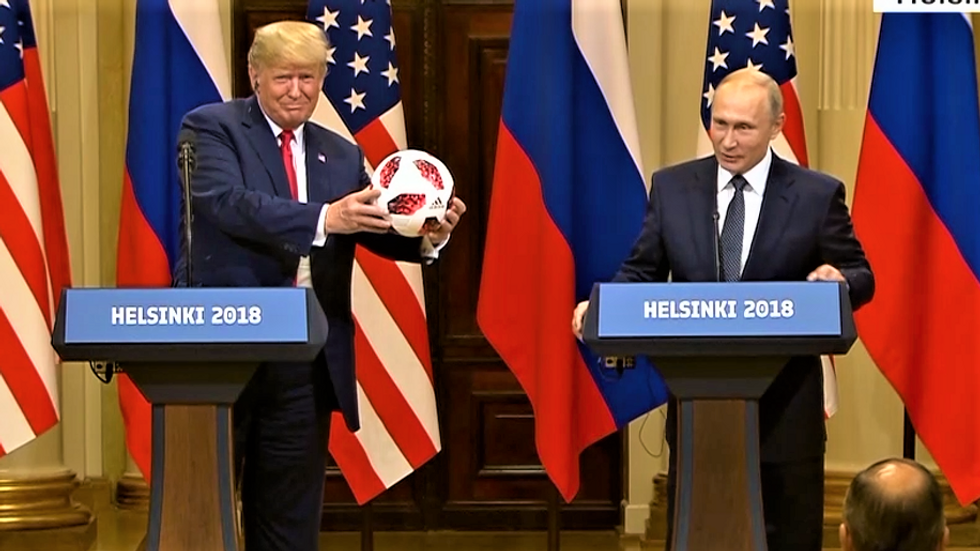 Lincoln Project delivers damning super cut of all the times Trump has shamelessly sucked up to Putin