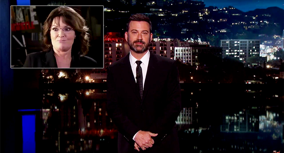 Jimmy Kimmel destroys Sarah Palin's climate babbling: Scientists aren't just 'f*cking with you'