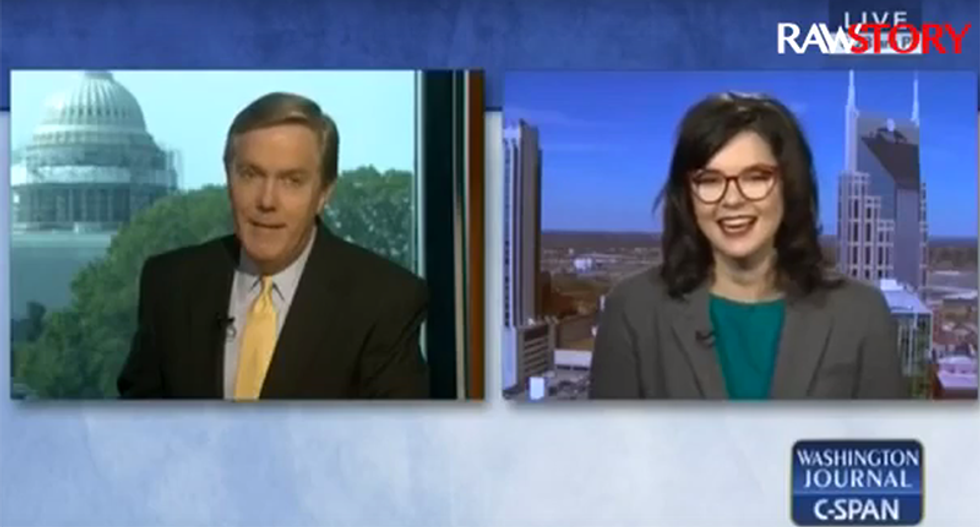 WATCH: CSPAN caller goes on nutty worldwide lesbian globalist conspiracy tangent — guest crushes him