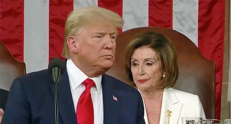 Trump freaks out over possibility of Pelosi becoming president if he and Pence get sick from COVID-19