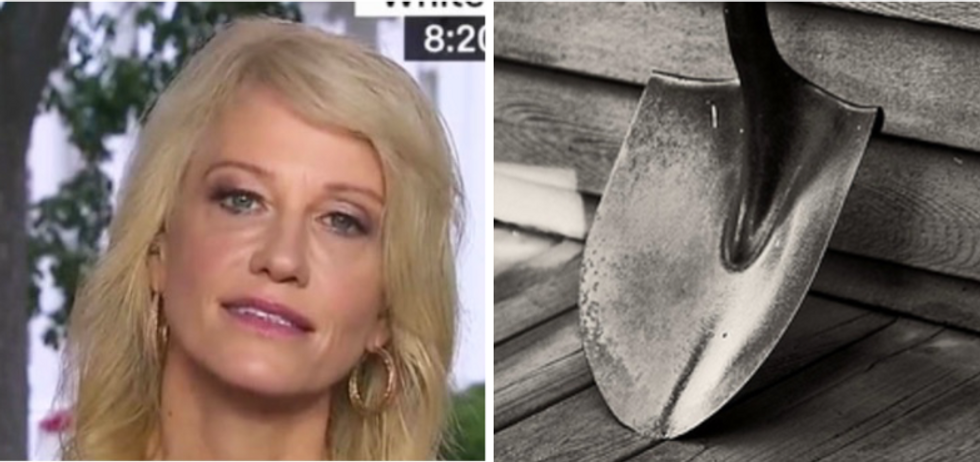 CNN associate producer caught on camera saying Kellyanne Conway 'looks like she got hit with a shovel'