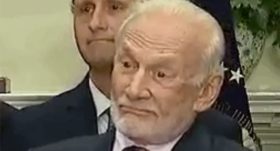 WATCH: Buzz Aldrin floored as Trump humiliates himself attempting to talk about science and space