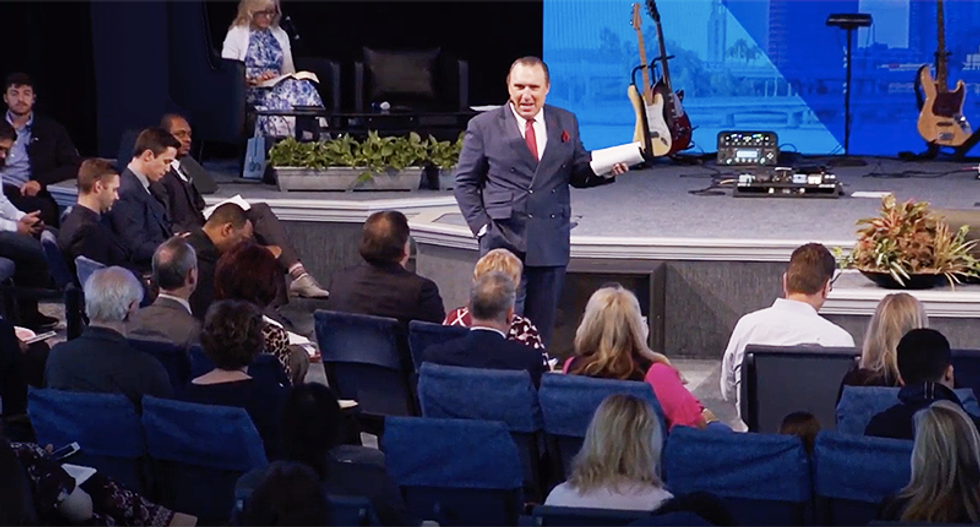 Florida residents pack into megachurch after pastor promises cure for coronavirus