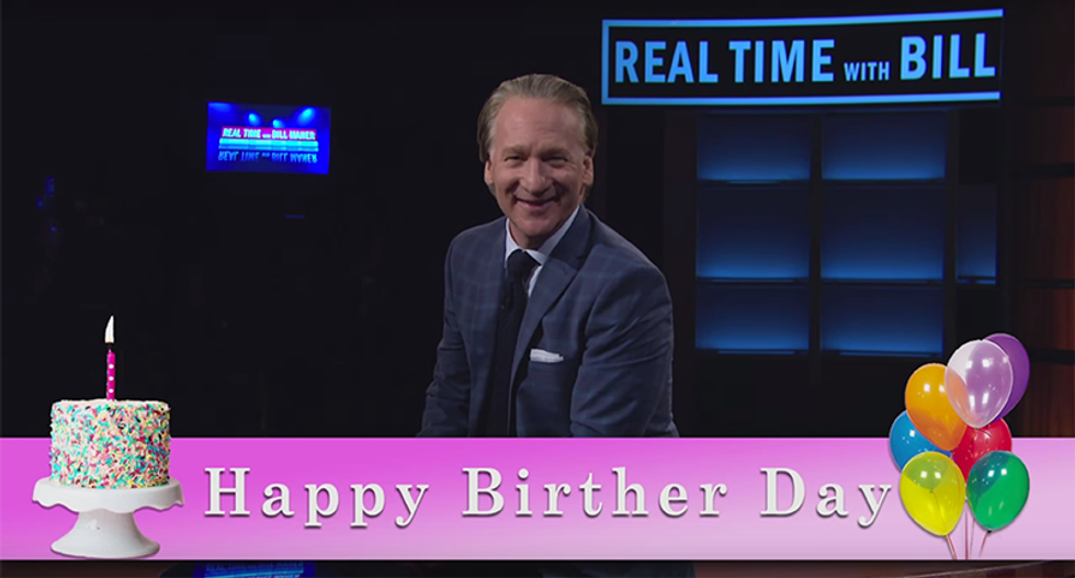 Bill Maher wishes Trump a hilarious 70th birthday: 'Go for broke — like your casinos'