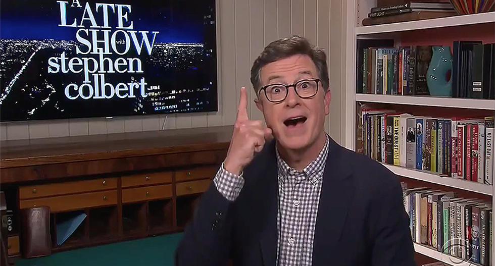 Stephen Colbert tries to dissect a bizarre conspiracy theory about Andrew Cuomo's nipple ring