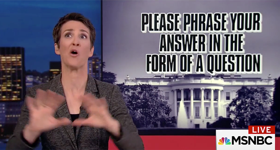 'This is the last call we'll have': Trump's new lawyer sends cryptic message to Rachel Maddow