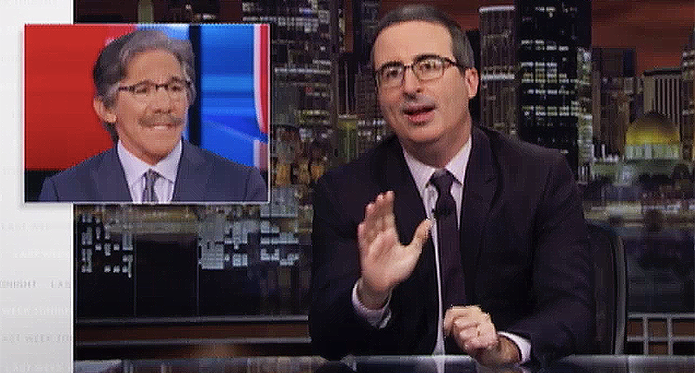 John Oliver goes on full attack against 'incredibly stupid' Geraldo and Fox News for conspiracy theories about MAGABomber