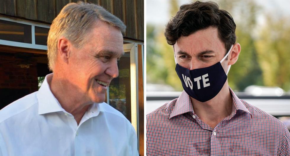 '#PerdueIsChicken': Internet mocks 'coward' GOP senator for canceling debate after Ossoff destroyed him in viral video