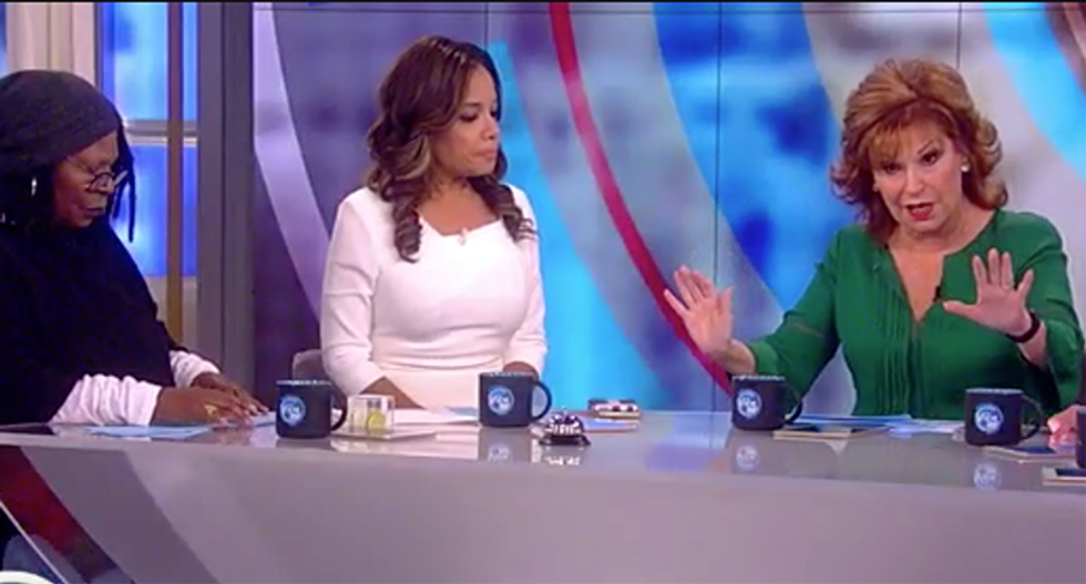 Joy Behar demands to know why we're talking about Clinton emails and not Trump's rape case