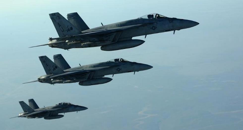 US-led strikes hit Syria's Raqa, Aleppo provinces