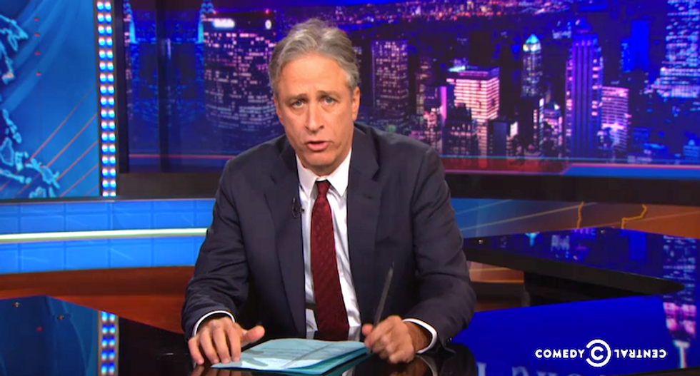 Jon Stewart blasts 'motherf*ckers' in Congress for avoiding debate on ISIS