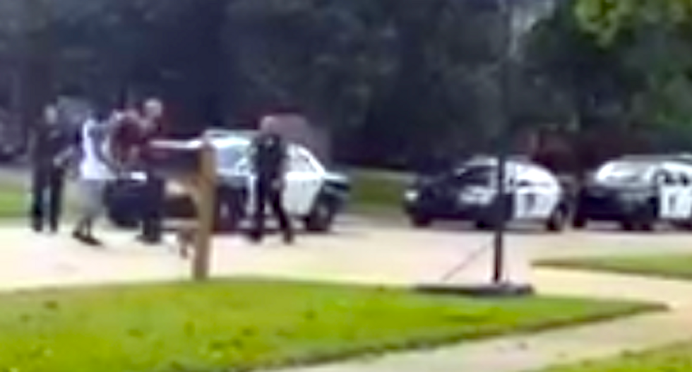 WATCH: Cops blast unruly 'Moor' with pepper spray after he insists he's exempt from US law