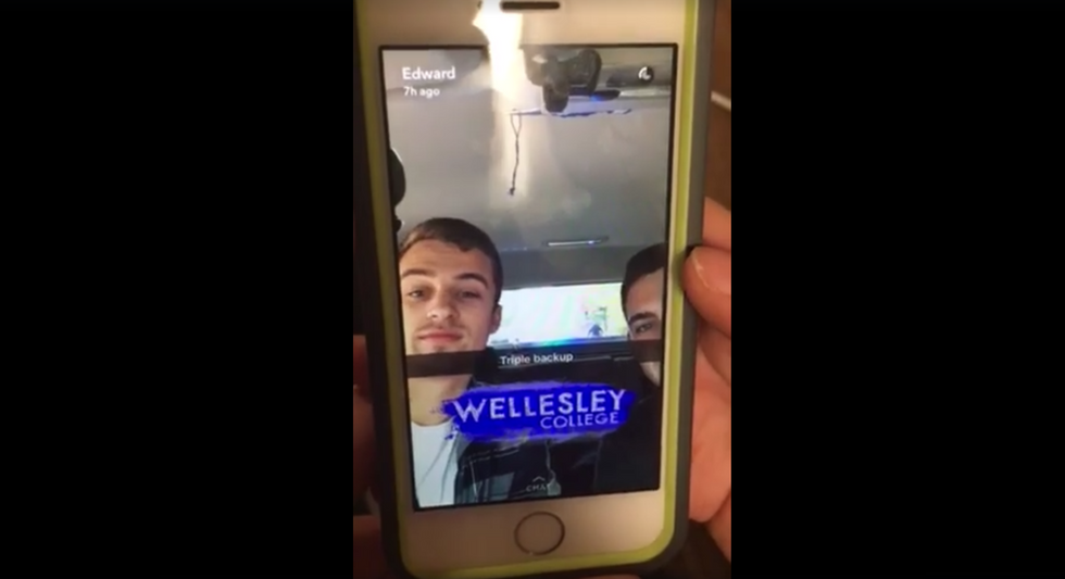 Trump fans film themselves driving through women's college and harassing black students