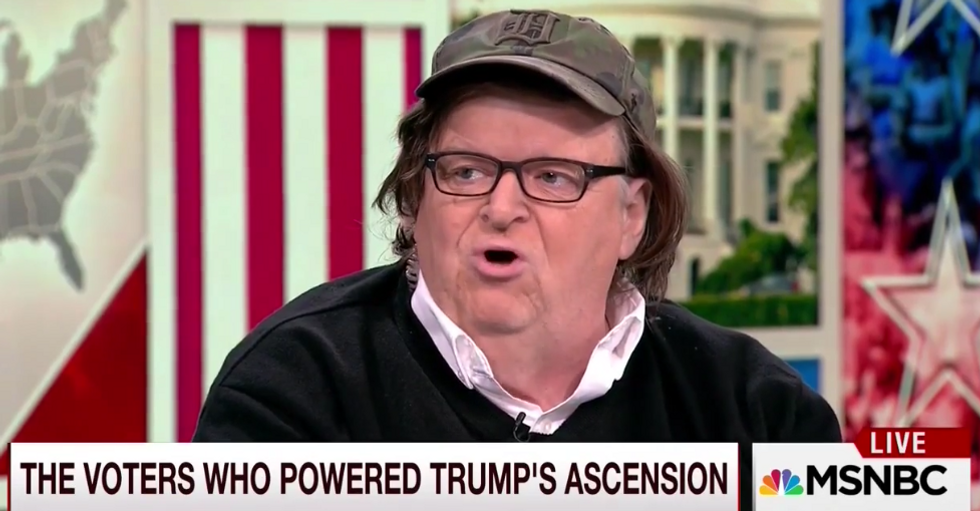 'This is not a drill!': Michael Moore calls for 'non-violent disruption' of Trump's inauguration