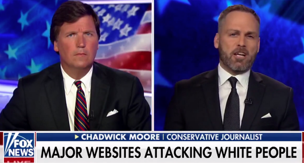 Internet gangs up on Tucker Carlson after guest suggests black woman should 'walk a mile' in a white woman's shoes