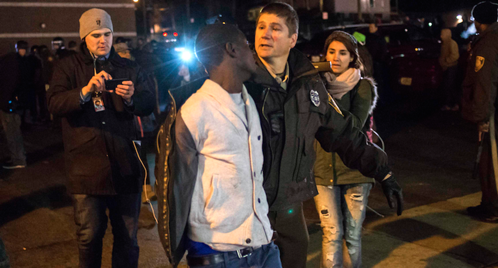 Protesters arrested as tensions simmer ahead of Ferguson grand jury decision