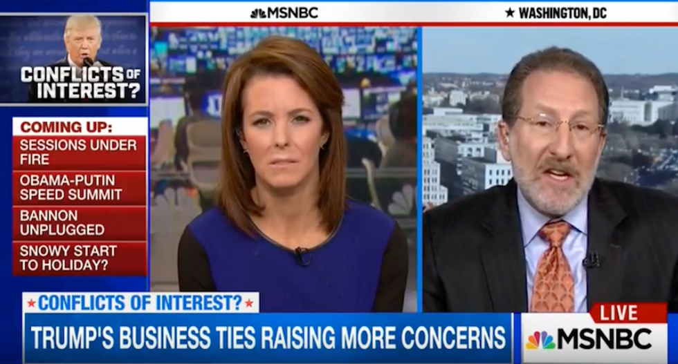 Law professor: Trump opens possibility of impeachment as 'Foreign states pay money' to his companies
