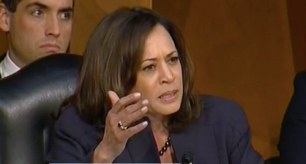 Watch Kamala Harris explain to silent Republicans that Christine Ford tried to protect them from Kavanaugh
