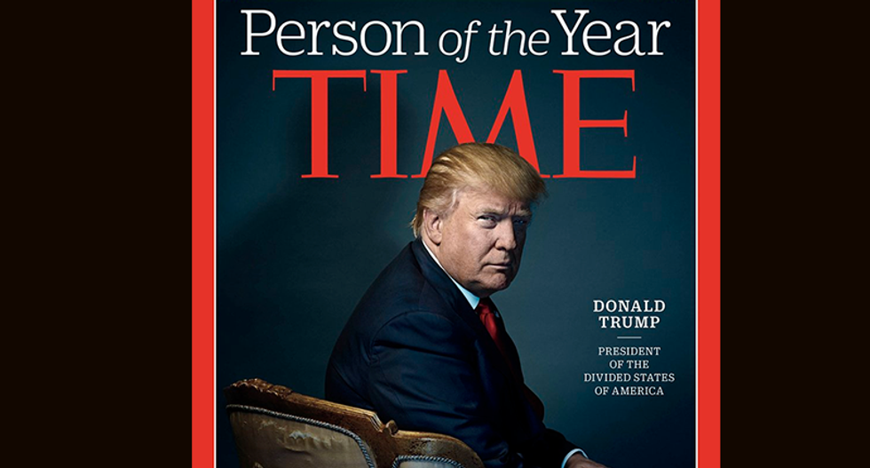 Time magazine names US President-elect Trump person of the year