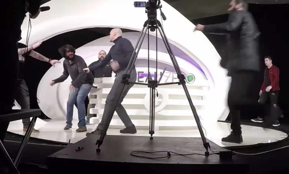 WATCH: White nationalist gets punched out on French show for whining he's up to his 'a**hole in Arabs'
