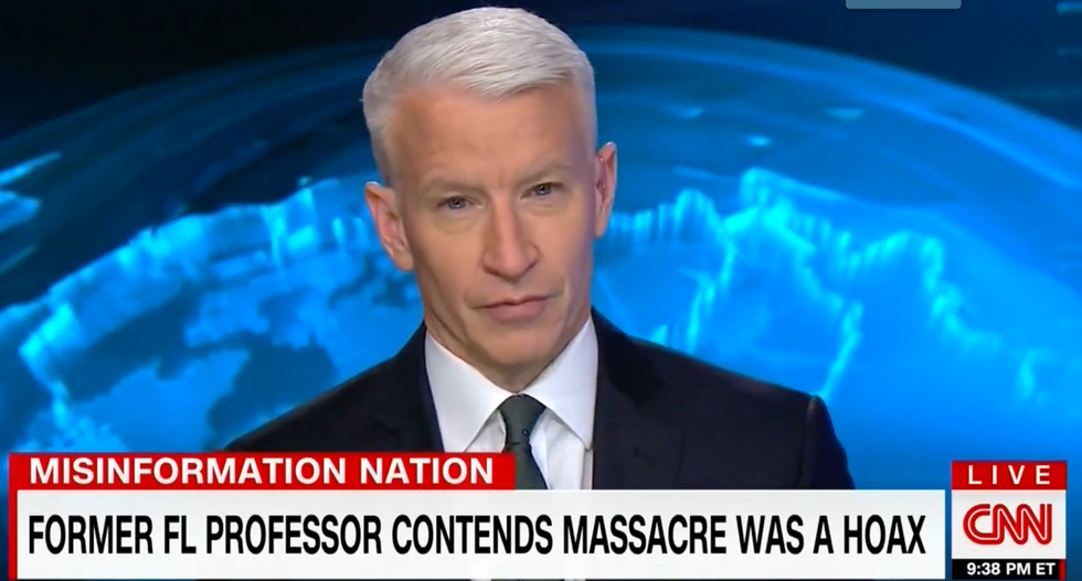 'This is really sick stuff': Anderson Cooper rails against 'insane' Sandy Hook conspiracy theories