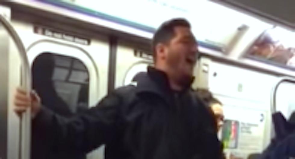 WATCH: Passenger sings 'Willy Wonka' tune to shut down anti-LGBT subway preacher