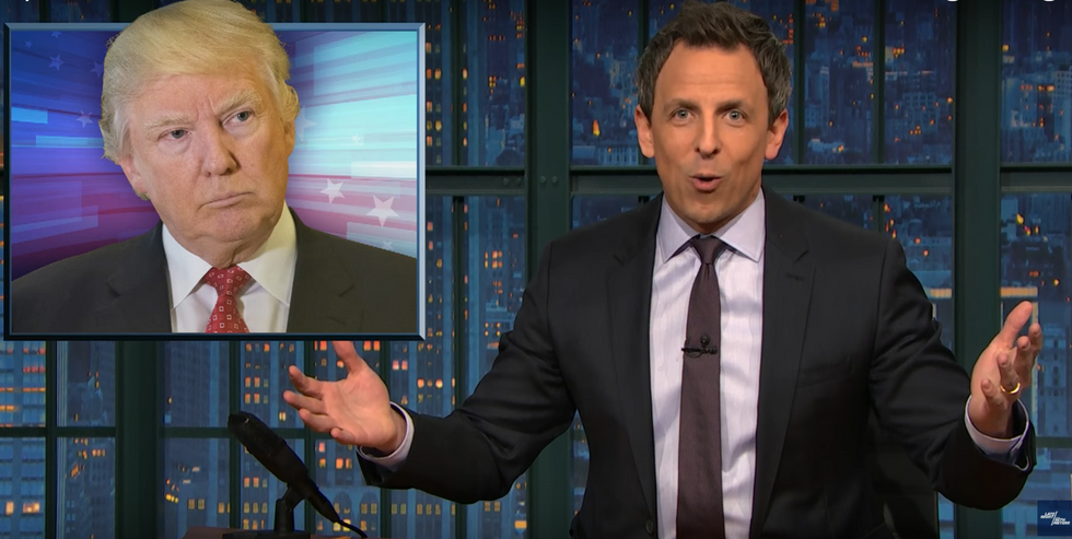 Seth Meyers slams Trump's Meals on Wheels cuts: Your heart is so small it makes your hands look big
