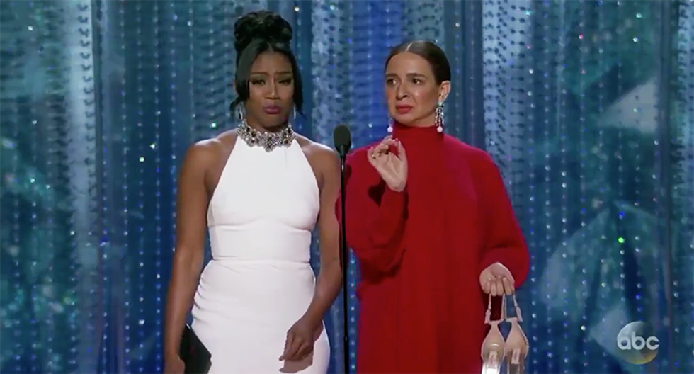 WATCH: Tiffany Haddish and Maya Rudolf reassure racists that the Oscars is still really really white